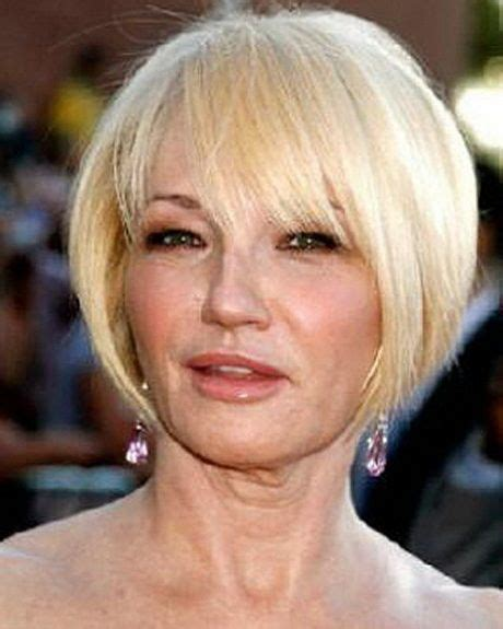 bangs for over 60 woman short hairstyles women over 60 blonde bangs 2 short