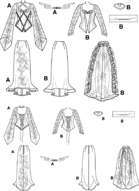 pattern gothic dress simplicity 9255 gothic princess