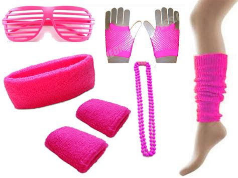 80s Accessories For by 80s Neon Accessories Pack