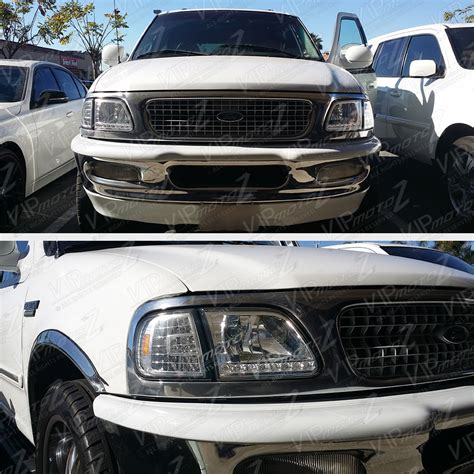 1997 ford f150 headlights 1997 2003 ford f150 expedition chrome 3rd led smd