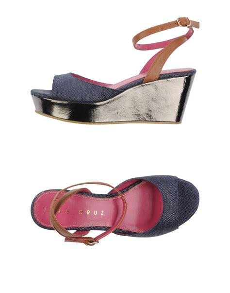 lola sandals lola sandals in silver blue lyst