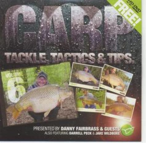 Free Tackle Giveaway - korda carp tackle tactics and tips vol 6 free dvds and giveaways oakwood tackle