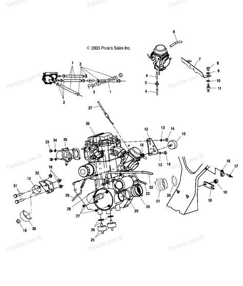 polaris sportsman 500 parts diagram polaris atv parts 2004 a04ch50aq sportsman 500 engine