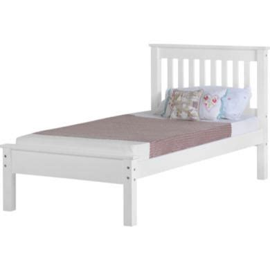 Low Height Single Bed Frame Seconique Monaco Single Bed In White Furniture123