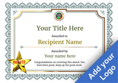 merit badge award card template free certificate templates great designs simple to use