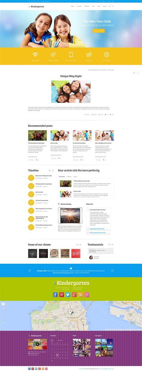 wordpress themes kindergarten free kindergarten children wordpress theme by themerex