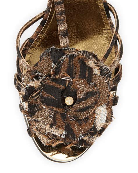 flower t sandal lanvin leopard print t flower sandal