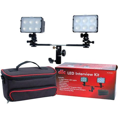 best led light kit for interviews dot line led 2 light interview kit with case dl dv2600 b h