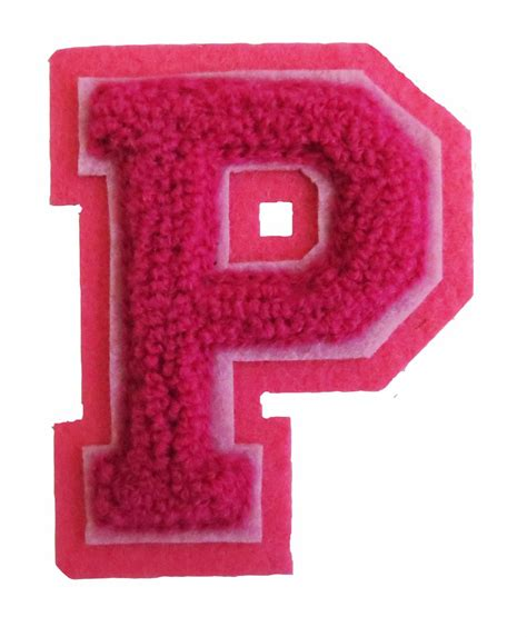 A P P machine embroidered varsity letter p