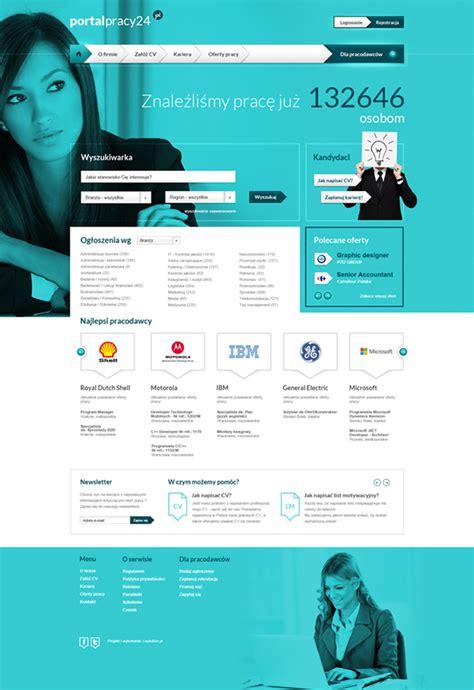 design online job portal portalpracy24 pl on behance