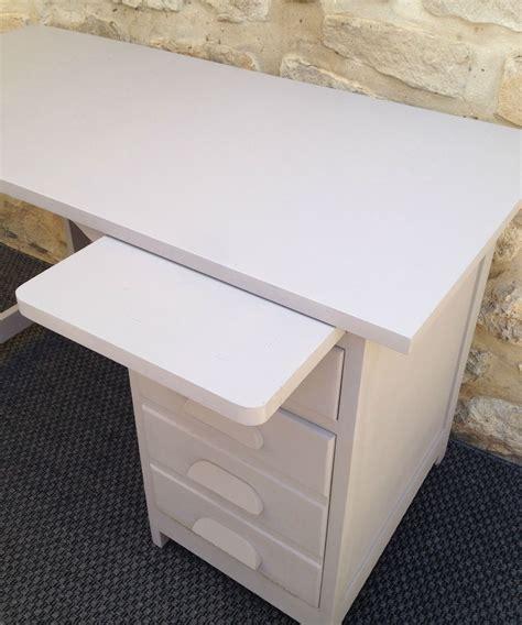 table cuisine escamotable tiroir ancien bureau comptable repeint gris avec tiroirs et