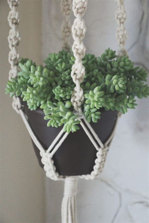 Macrame Pot Holder Pattern - best 10 macrame plant hanger patterns ideas on