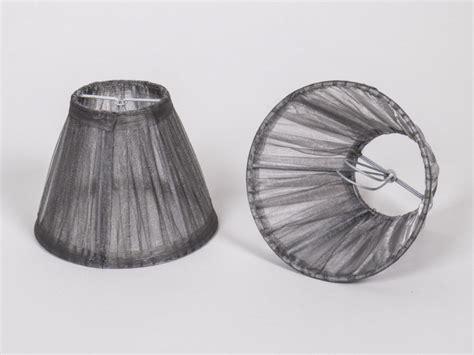 kronleuchter rund kiemmschirm organza grau silber lenschirm f 252 r