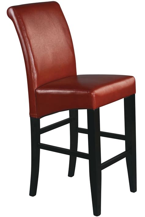 Bar Stools Leather by Met8630rd Office 30 Quot Parsons Bar Stool In Crimson