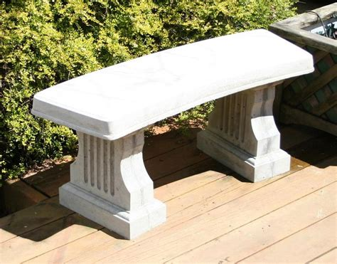 concrete table molds diy concrete bench 41 quot in length history stones molds outdoor garden diy and