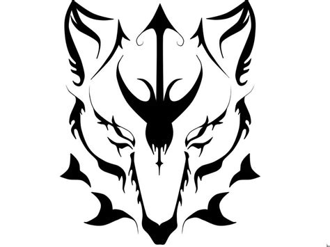tribal wolf face tattoo tribal dangerous scary wolf stencil golfian