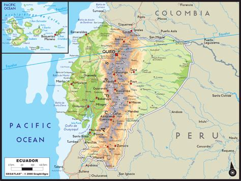 ecuador physical map ecuador physical map www pixshark images galleries
