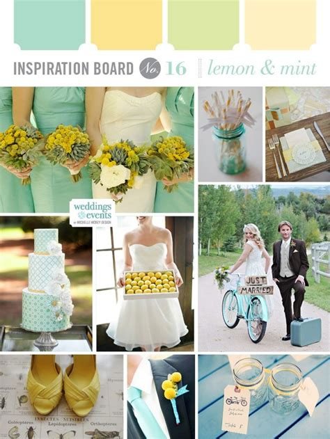 wedding color combinations wedding color combination lemon yellow and mint aqua teal