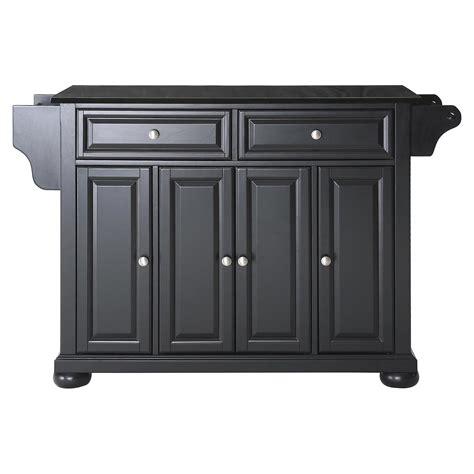 Black Granite Top Kitchen Island alexandria solid black granite top kitchen island black