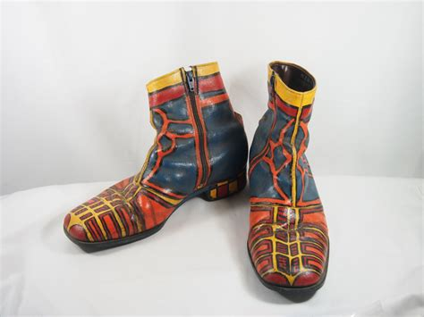 hippie boots vintage 60s hippie mod painted mens ankle boots shoes