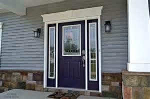Plum Front Door Purple Front Door Front Landscape