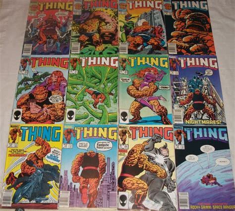 the thing marvel comic book marvel comics the thing 1984 1985 lot of 12 comic books ebay