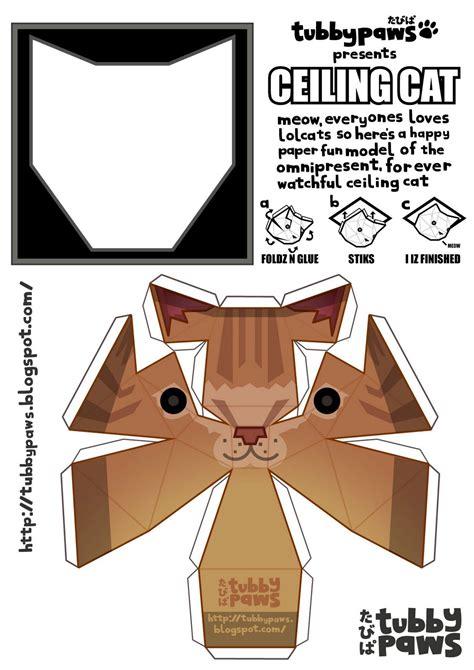 cat paper craft ceiling cat papercraft cat mewsuem