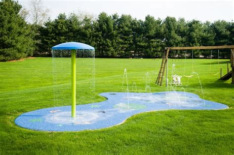 how to make a backyard splash pad residential splash pad for your backyard