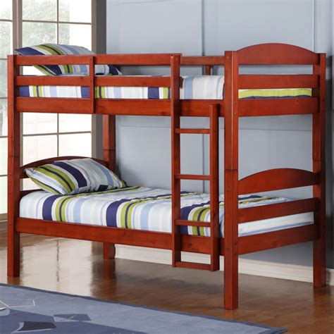 Overstock Bunk Beds Price Comparisons Solid Wood Bunk Bed Cherry Finish For Any Style Kid