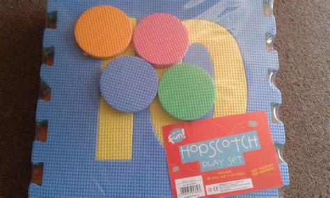 large outdoor indoor hopscotch play set mats pad foam mat