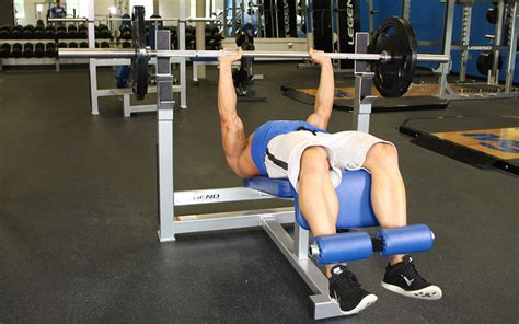 decline bench close grip triceps press decline close grip bench press video exercise guide tips