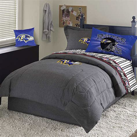 baltimore ravens nfl team denim full comforter sheet set