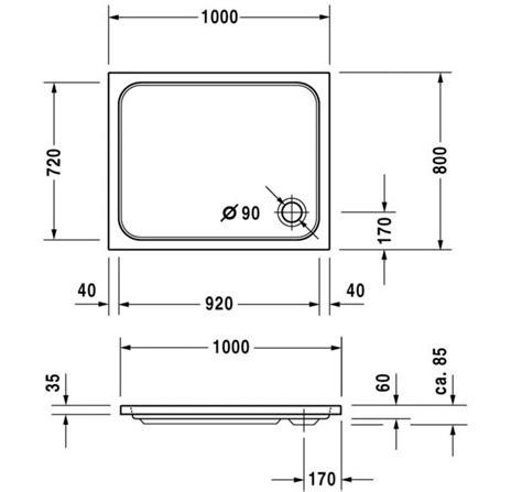duravit d code piatto doccia d code 100 x 80 by duravit design sieger design