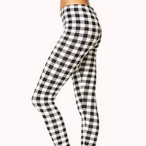 pants checkered jeans checkered pants black and white black and white checkered leggings trendy clothes
