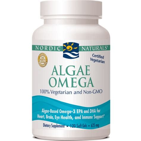 Algae Detox Program by Nordic Naturals Algae Omega 625 Mg 120 Softgels The