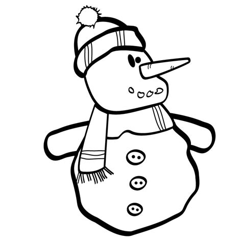 coloring page snowman free printable snowman coloring pages for kids