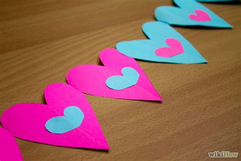 How To Make A Chain Of Hearts Out Of Paper - 5 ways to make a out of paper wikihow