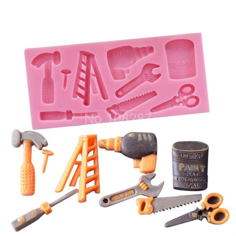 P1151 Kitchen Tools Shape Silicone Mold 3d Silicone Cake Mold Hammer And Opener Shape Diy Fondant