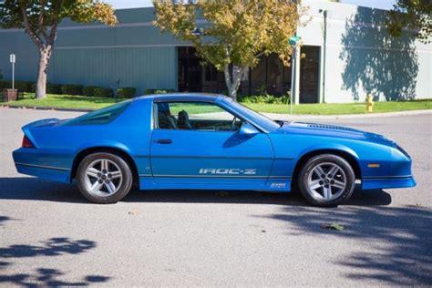 1985 camaro iroc z parts 1985 chevrolet iroc camaro blue chevy iroc z
