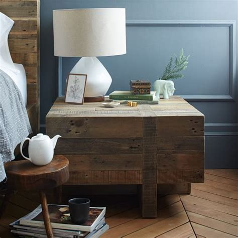 west elm emmerson bed emmerson reclaimed wood block side table west elm