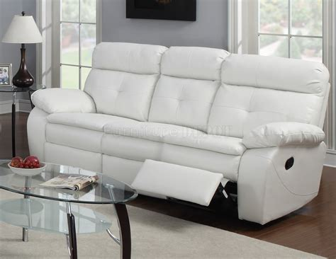 Inspiration Idea White Leather Recliner Sofa And Modern