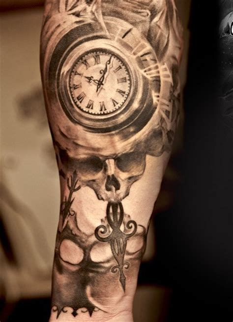 skull and clock tattoo clock and skull by niki norberg design of