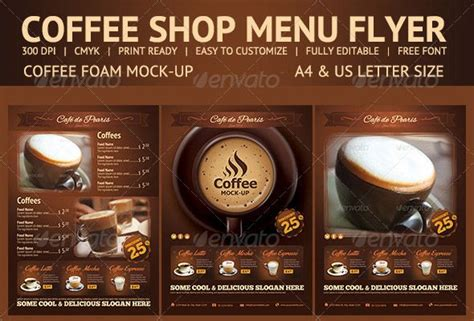 free coffee shop menu template 109 best images about pub menu on flyer