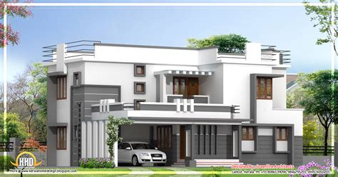contemporary 2 storied kerala home design 2400 sq ft