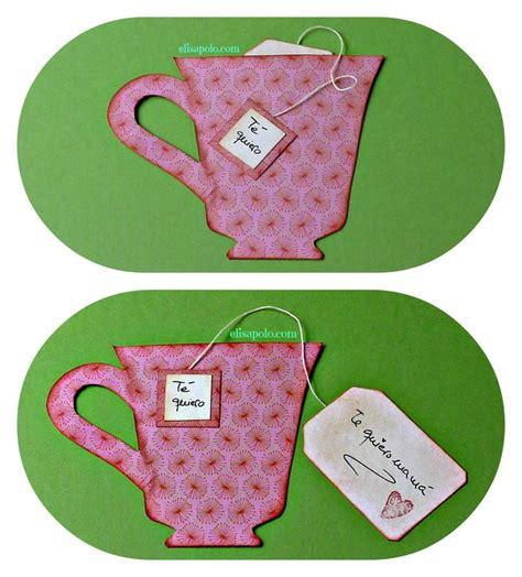 tarjetas en forma de taza manualidades reciclables tarjeta taza de t 233 collage d 237 a de las madres pinterest