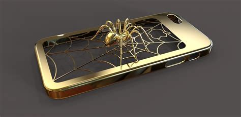 3d Ipgone 5 iphone 5 spider 3d model 3d printable wrl wrz