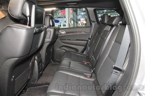Jeep Grand Seating Jeep Grand Rear Seat At Auto Expo 2016 Indian