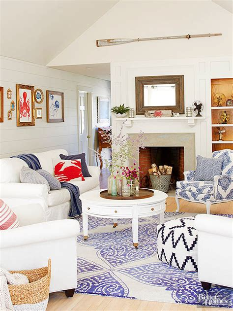 White And Blue Coastal Living Room Design Ideas by And White Living Rooms Newlibrarygood