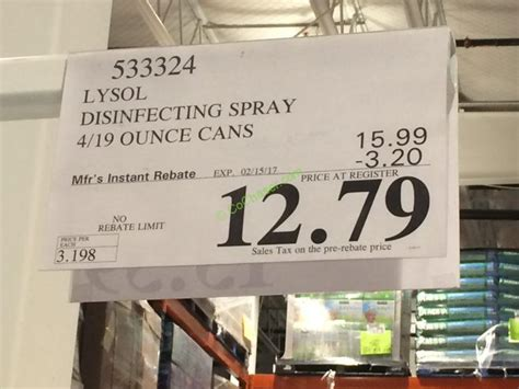 lysol disinfectant spray  oz cans costcochaser