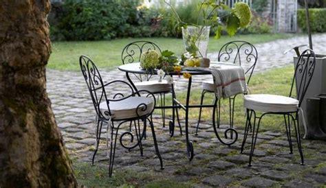 salon de jardin romantique mobilier exterieur fer forge